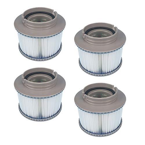 homedectime cartuccia filtro mspa fd2089 da 4 pezzi per vasca idromassaggio spa piscina gonfiabile