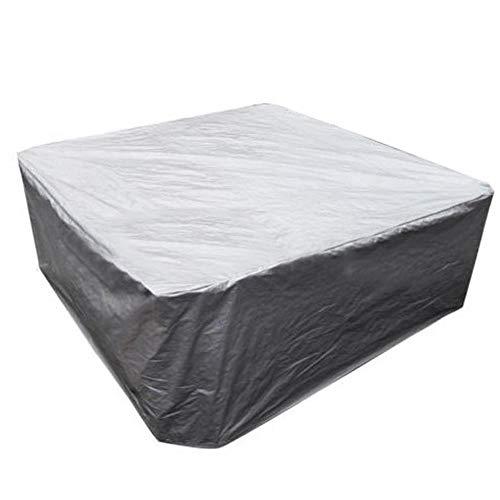 lanhan - telo protettivo impermeabile per vasca idromassaggio, per interni ed esterni, per la prevenzione delle foglie, per tavolo e sedia, colore: argento