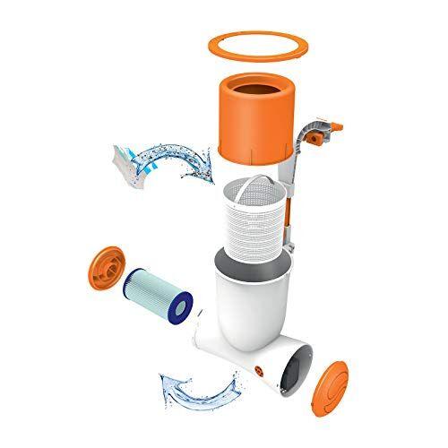 Flowclear Bestway 58462 Pompa di Filtraggio a Cartuccia Skimatic per Piscine Fuori Terra, Portata 2,574 L/h