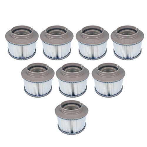petsola 8 cartucce filtranti per piscine filtro mspa per cartucce filtro per vasca idromassaggio pool 86x110
