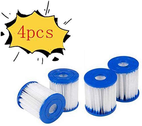YAOL Bestway 58093 - Cartucce filtranti taglia I, ricambio per cartucce filtranti, cartucce filtranti, accessori per la pulizia della piscina (4 pezzi)