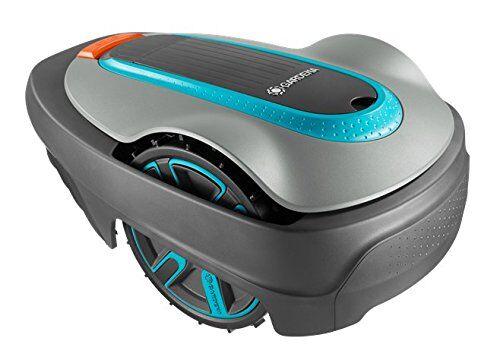 Gardena 15001-20 Robot Tagliaerba Sileno City, fino a 250 m², Altezza di Taglio 20-50 mm, Display LCD, Protezione Antifurto