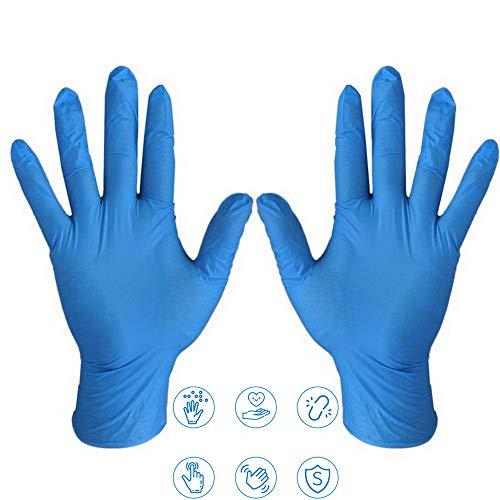 changli guanti in nitrile, 100 guanti usa e getta, adatti per bambini/adulti, piccoli/medi/grandi, senza lattice, senza lattice, per alimenti, bellezza, industria, casa, cucina, artigianato, giardinaggio