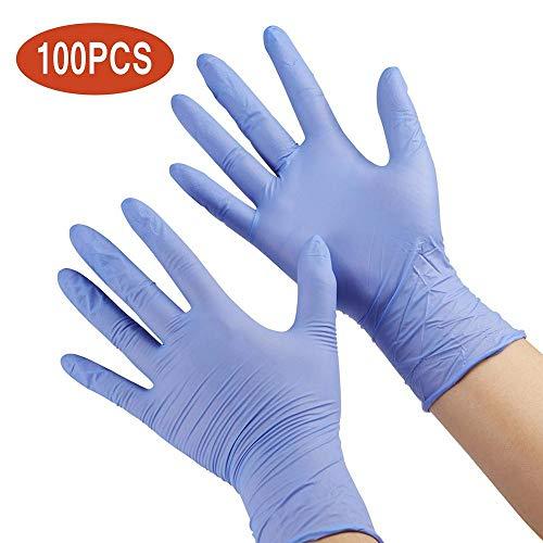 changli 100 guanti usa e getta per bambini, per adulti, per dipingere, senza lattice, per uso alimentare, senza polvere, per la pulizia della casa, il lavoro e la preparazione di alimenti