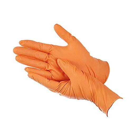 quentin 100 guanti usa e getta in gomma arancione guanti multiuso resistenti adatti per l'uso in cucina, lavastoviglie, giardinaggio e molto altro ancora, beige