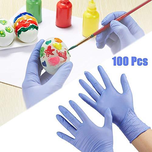 keior guanti medici in nitrile blu, guanti usa e getta per bambini, per artigianato, pittura, giardinaggio, cucina, pulizia, senza lattice, per uso alimentare, senza polvere, 100 pezzi
