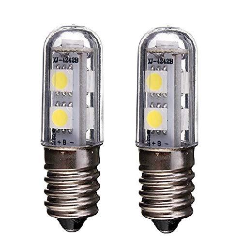 weixuan lampadina e14 led per frigorifero, 1w, 220v ac, 7 led smd 5050, lampadina led bianca, per luce frigo, lampada da cucito, mini lampada da tavolo, 2 confezioni