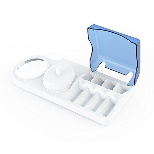 poketech portaspazzolino per spazzolini elettrici. base di sostegno poketech per spazzolini elettrici oral-b, porta-spazzolino: 1 manipolo, 4 testine e caricatore