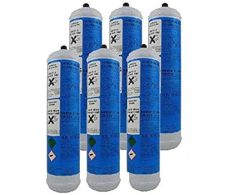 Filtri Acqua Italia Set 6 Pezzi BOMBOLE CO2 600 gr. Usa e Getta per Gasatori Acqua e Refrigeratori Attacco 11 mm passo 1 mm