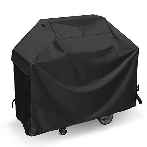 umi barbecue cover, heavy duty waterproof gas bbq cover, fade resistant outdoor grill cover for weber, char broil and more, 140cm/55inch, black
