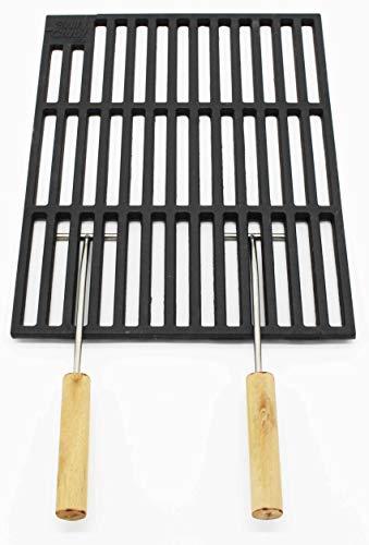 AKTIONA 2pezzi Griglie in Ghisa 41,5x 27,5cm + 2GRIFFE solo 12mm Stab distanza. u.a. adatto per Tepro Toronto, Black Oak, Butternut