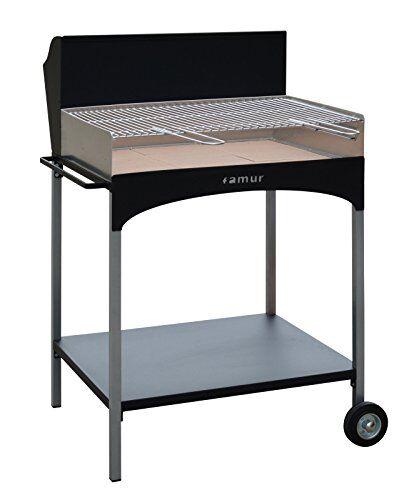 famur barbecue a legna con griglia in ferro cromato famur bk 8 eco