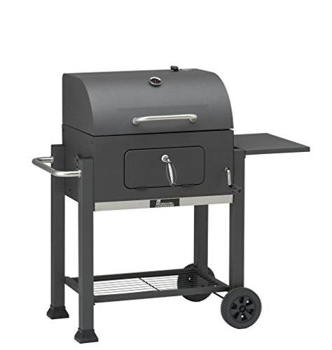 GrillChef Comfort Charcoal Grill carrello, colore nero
