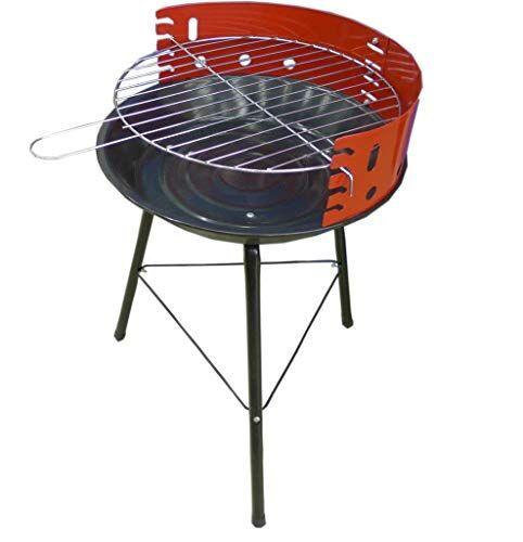 opengardenweb barbecue carbone portatile all'aperto da campeggio balcone giardino picnic terrazzo outdoor a 4 livelli per bbq  rosso e nero  semplice da usare e facile stoccaggio  36 cm x 36 cm x 51.5 cm