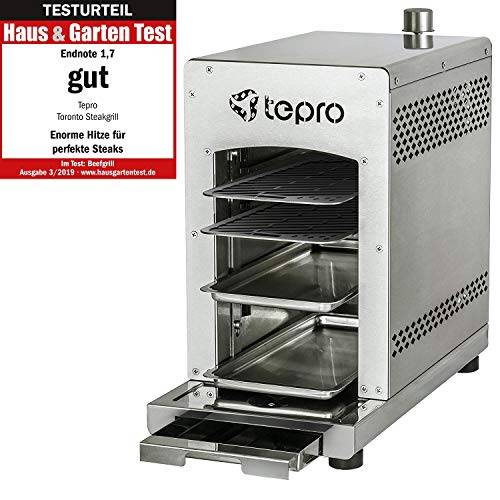 Tepro Toronto 3184 - Barbecue da Bistecca, Colore: Argento