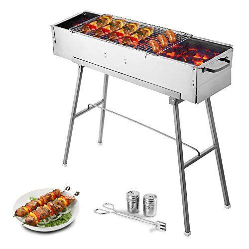 hodoy barbecue carbone 60 cm x 30 cm bbq barbecue portatile 6 kg barbecue portatile a carbonella pieghevole barbecue in acciaio inossidabile perfetto per il campeggio (80 * 17 cm)