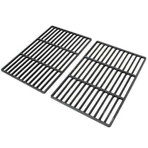 cs-trading - Set da 2 Griglie in ghisa Smaltata, per Barbecue, 41,5 x 27,5 cm, per i Seguenti Modelli: Tepro Toronto, Black Oak, Butternut e Altri