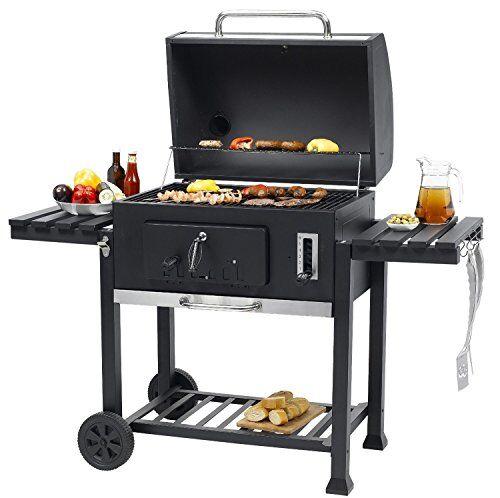 Tepro 'Tepro XXL Barbecue a carbone Toronto–con trolley con 2x pinze da barbecue 34cm e 25cm (XXL 152x 73x 137cm (LxPxA))