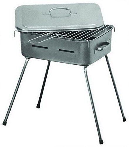mille barbecue portatile a legna carbonella fornacetta per grigliata, cm. 35x30, piedi richiudibili.