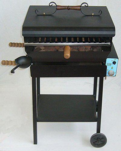 cruccolini - barbecue a gas con pietra lavica ba31 l50h90p38cm