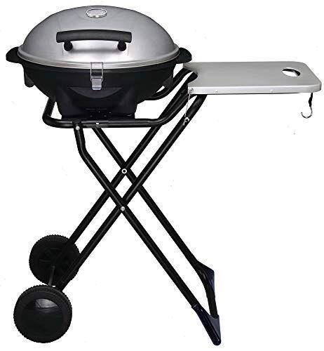 vannini barbecue elettrico portatile 2400w con ruote gioval