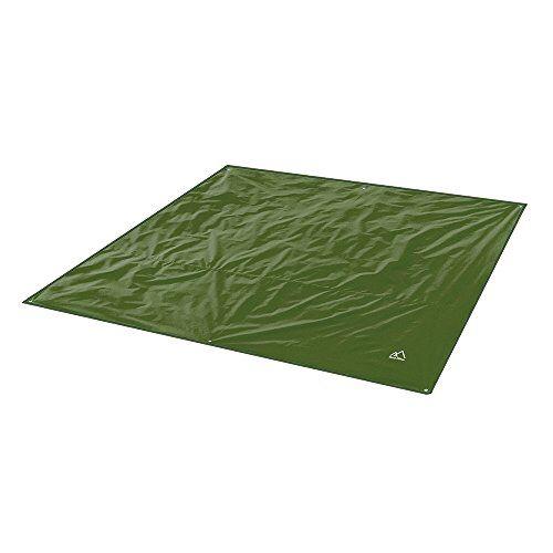 terra hiker telo da campeggio impermeabile, coperta da spiaggia, tappetino da picnic, tappetino da esterno, base per la tenda (verde scuro, 180 x 220 cm)