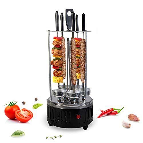 vangaloo - barbecue elettrico da tavolo per spiedo elettrico schaschlik - schaschlik - schaschlik- gyros, kebab - spiedino elettrico per la casa