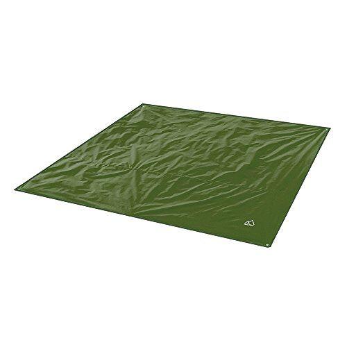 terra hiker telo da campeggio impermeabile, coperta da spiaggia, tappetino da picnic, tappetino da esterno, base per la tenda (verde scuro, 150 x 220 cm)