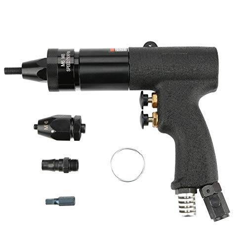 Akozon Rivetto Pneumatico, Akozon 1/4 Pneumatica Rivettatrice Pistola per Trapano Avvitatore Elettrico Rivet Nut Gun Rivettatrice Utensile Rivettatrice Dado (KP-739A)