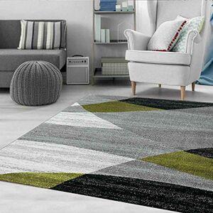 VIMODA Moderno Soggiorno Tappeto Disegno Geometrico Erica in Marrone Beige - ko-Tex Certificato - Verde, 120x170 cm