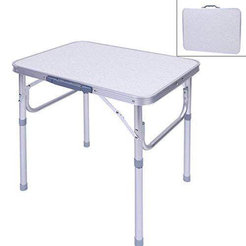 soulong tavolo da campeggio in alluminio, tavolo pieghevole tavolo da pranzo per picnic campeggio barbecue al coperto all'aperto, 60.2 x 45cm