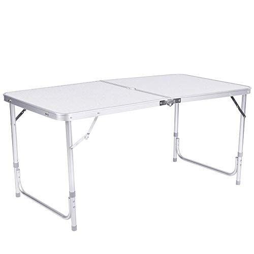 ebtools - tavolo da campeggio pieghevole, in alluminio, per campeggio, picnic e mercatini, portata 100 kg, 120 x 70 x 60 cm