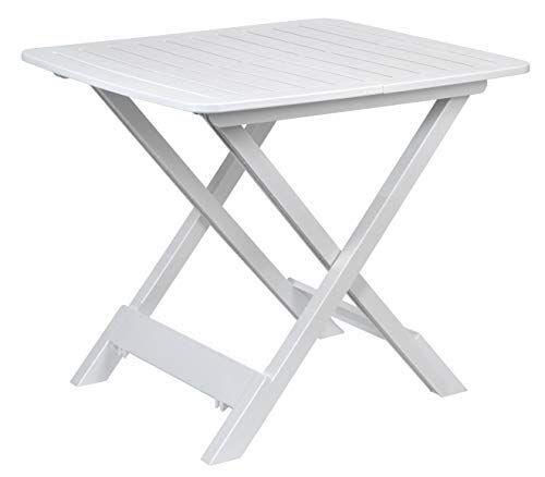 spetebo act - tavolo da campeggio pieghevole, in plastica, 43 x 45 x 50 cm, colore: bianco