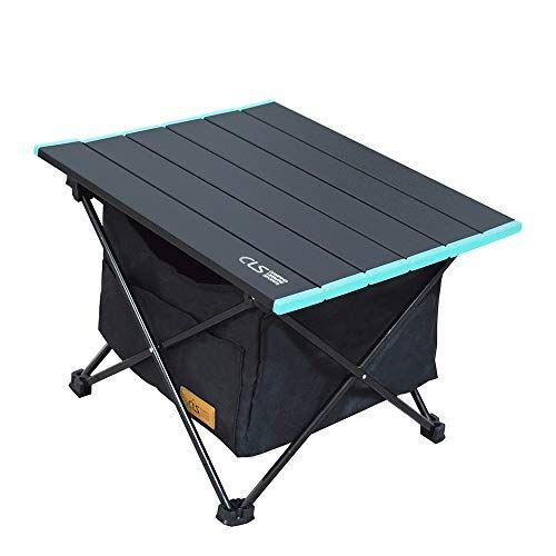 reayou tavolo da campeggio leggero pieghevole in alluminio,portatile con borsa da trasporto, tavolino per all'aperto per picnic, spiaggia, escursionismo, viaggi, pesca (s)