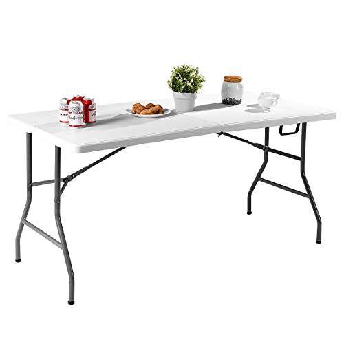 costway tavolo pieghevole da campeggio, tavolo da birra per giardino picnic (m)