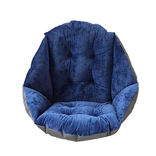 GELing Cuscino Spesso Sedia con Schienale per L'Ufficio Auto Poltrona Sospesa da Giardino Sedia Dondolo Amaca Blu Scuro 40X48CM