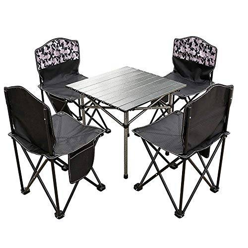dx tavolo da campeggio, lega di alluminio, tavolo da pranzo multifunzionale da campeggio, portatile e pieghevole, adatto per cena in famiglia e viaggi all'aperto