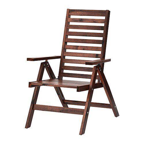 OnlineDiscountStore NEW PPLAR IKEA, Sedia reclinabile, da esterno, pieghevole marrone mordente
