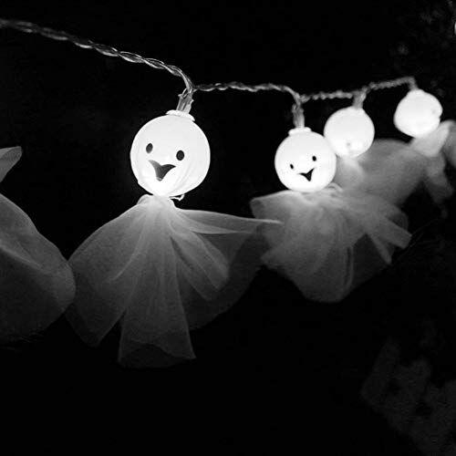camouflage net luci halloween zucca catena luminosa stringa luci led 3m 20 luci per decorazione halloween a casa esterno camera (bambola fantasma)