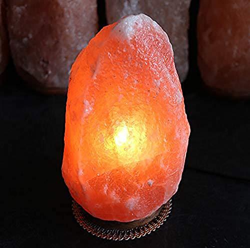 ziyiui 2-3 kg lampada di sale naturale himalayana illuminazione regolabile forma naturale fatto a mano intagliato a mano purificatore d'aria naturale interno
