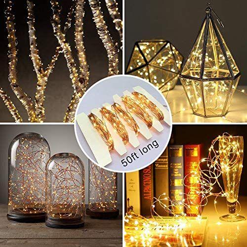 kriogor 12m 100 lucine led, ip65 impermeabile led filo di rame, bianco caldo stelle luci con 2 modalit luminosit, catena leggera decorazione per il natale o la festa di nozze