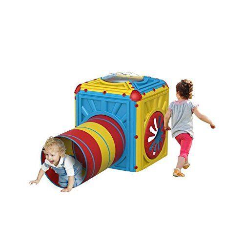 starplay casetta giardino cube cubo per bambini piccoli con tunnel gattonare ampliabile