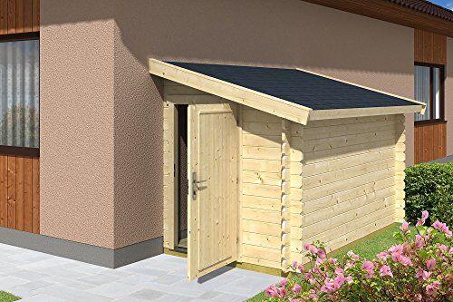 gartenpro casetta giardino addossata a parete legno nordico gartenpro 159x218x188/148h