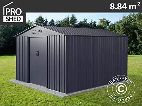 dancover casetta da giardino 2,77x3,19x1,92m proshed®, antracite
