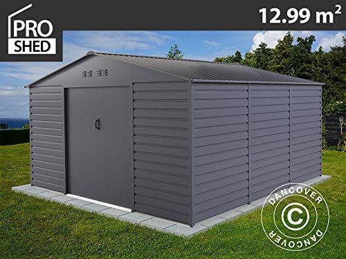dancover casetta da giardino 3,4x3,82x2,05m proshed®, antracite