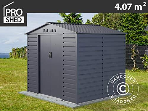 dancover casetta da giardino 2,13x1,91x1,90m proshed®, antracite