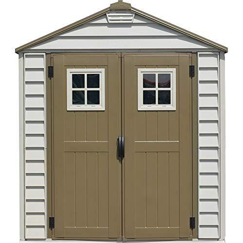 ezooza casetta da giardino in pvc storemax 206 x 200 cm colore grigio e marrone