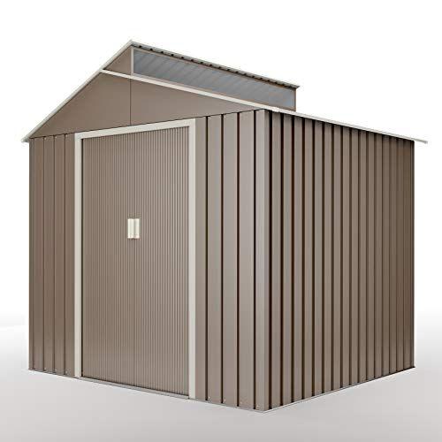 hoggar breda casetta da giardino 4,25m2g01me0027grigia - spazio interno 203 x 181 x 200 cm - porta da 162 x 96 cm