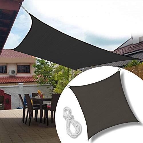 froadp 5x5m tenda a vela quadrata vela ombreggiante protezione raggi uv parasole per giardino prato pergola spiaggia(antracite)
