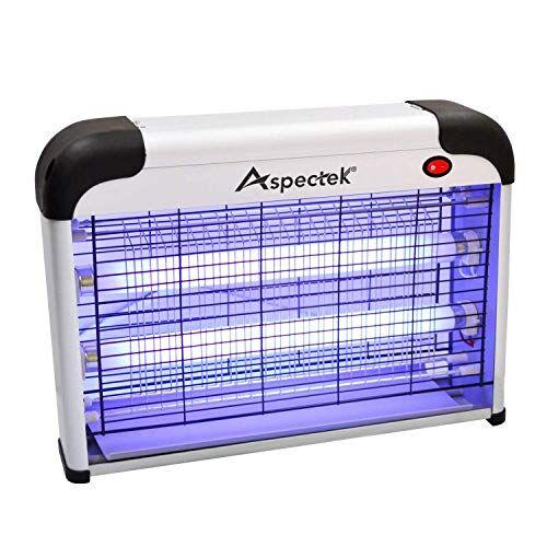 ASPECTEK con Luce UV Repellente Zanzare, Zanzariera Elettrica Trappola per Mosche Insetto Alto-efficiente Anti, Lampada 20W, 20 Watt